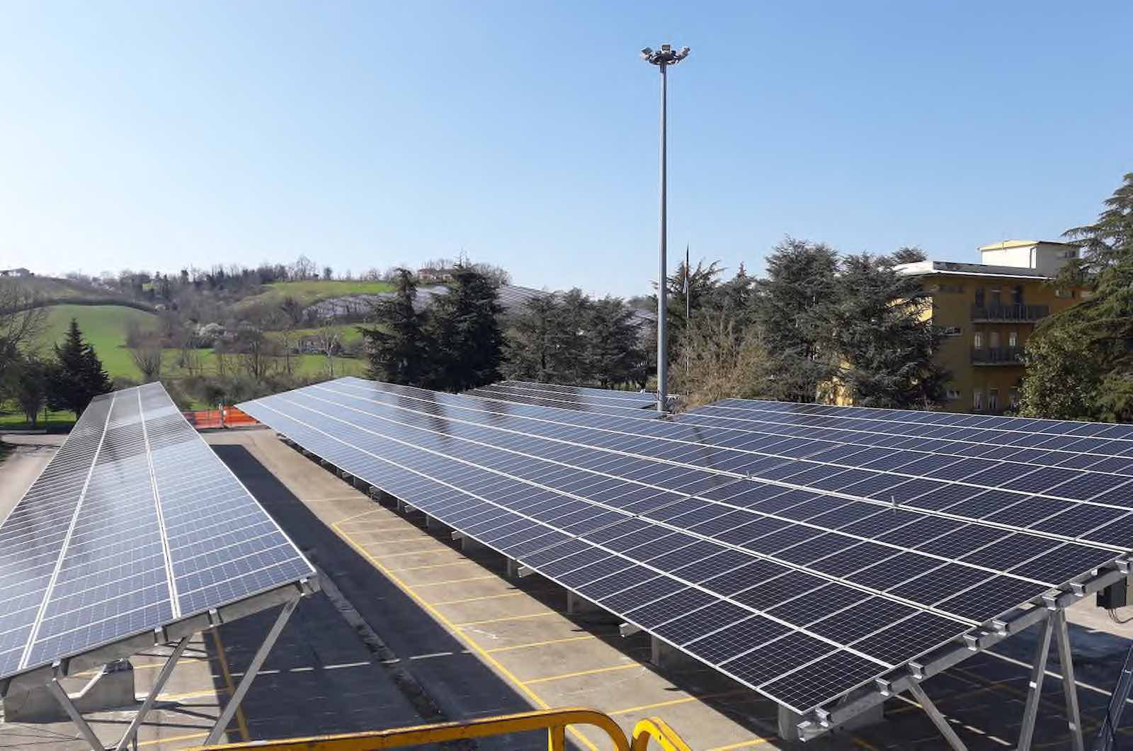 1000 Solar Panels Power Station In Emilia Romagna