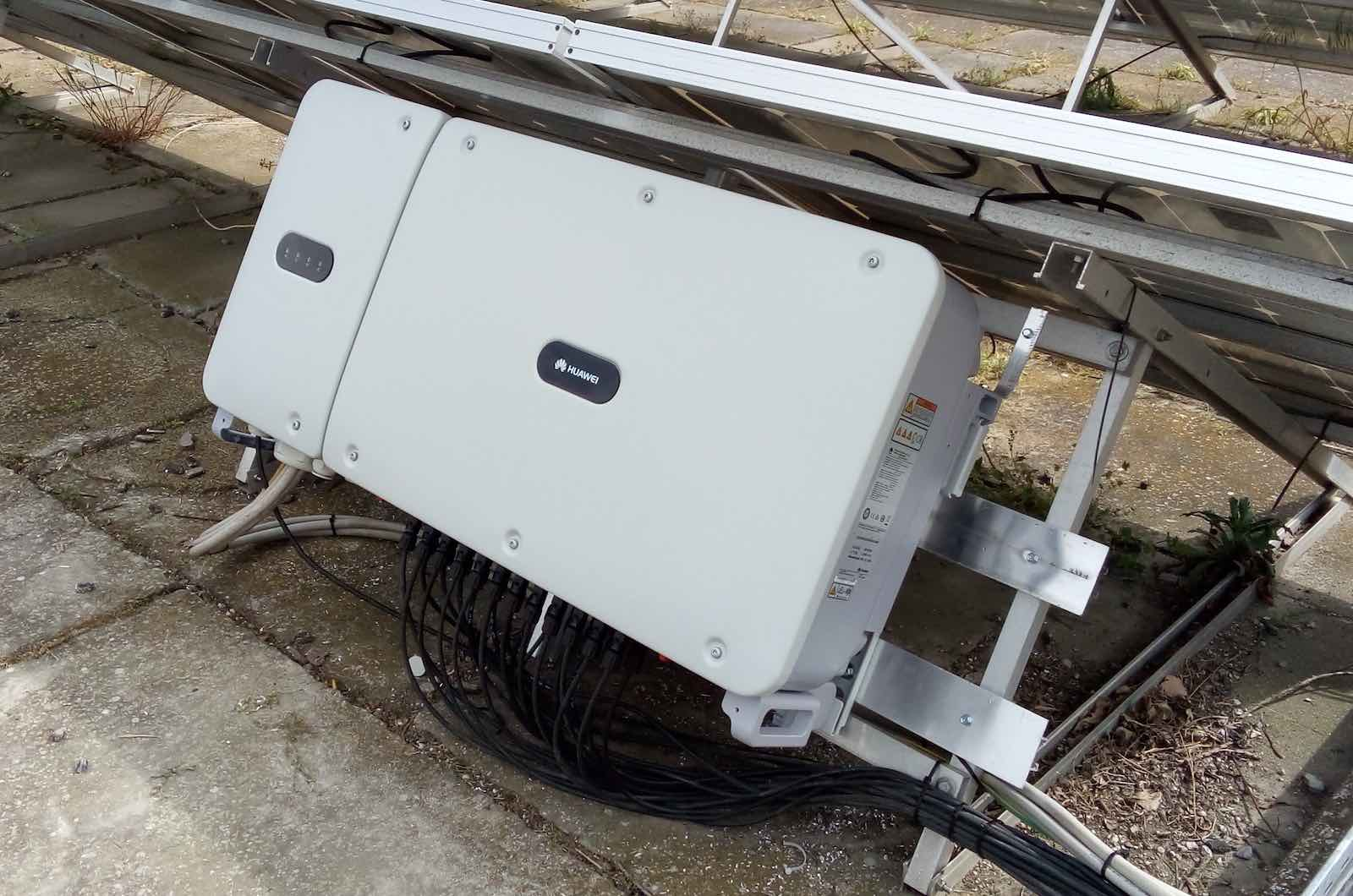Installation Of An Inverter Huawei 60KTL